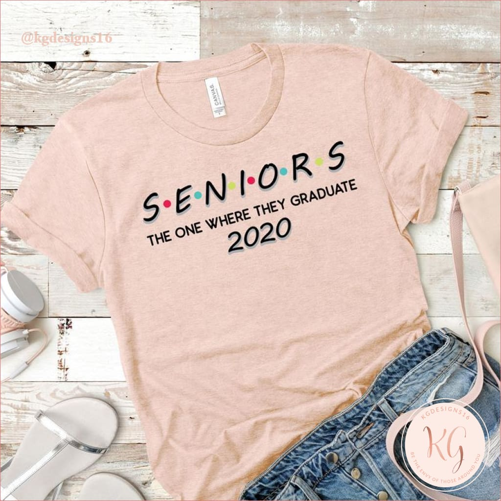 Senior 2020 Friends The One Where They Graduate Unisex T Shirt Clothing