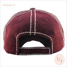 Load image into Gallery viewer, Sometimes Wine Is Necessary Embroidered Patch Baseball Hat