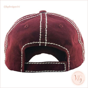 Sometimes Wine Is Necessary Embroidered Patch Baseball Hat