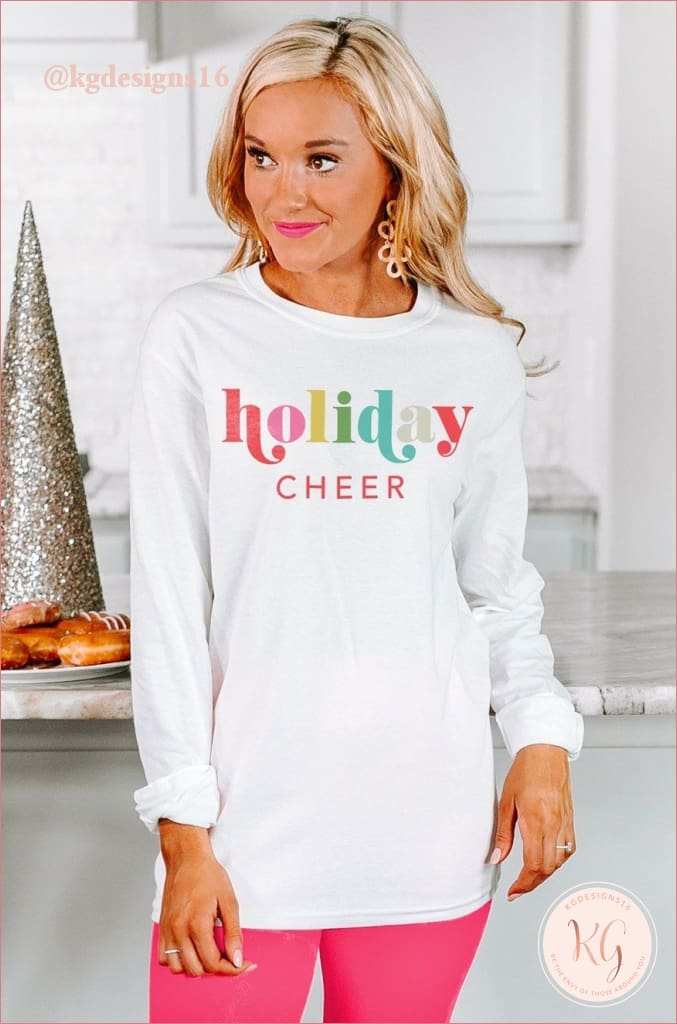 The Holiday Cheer Womens Varsity Crew Neck Shirt