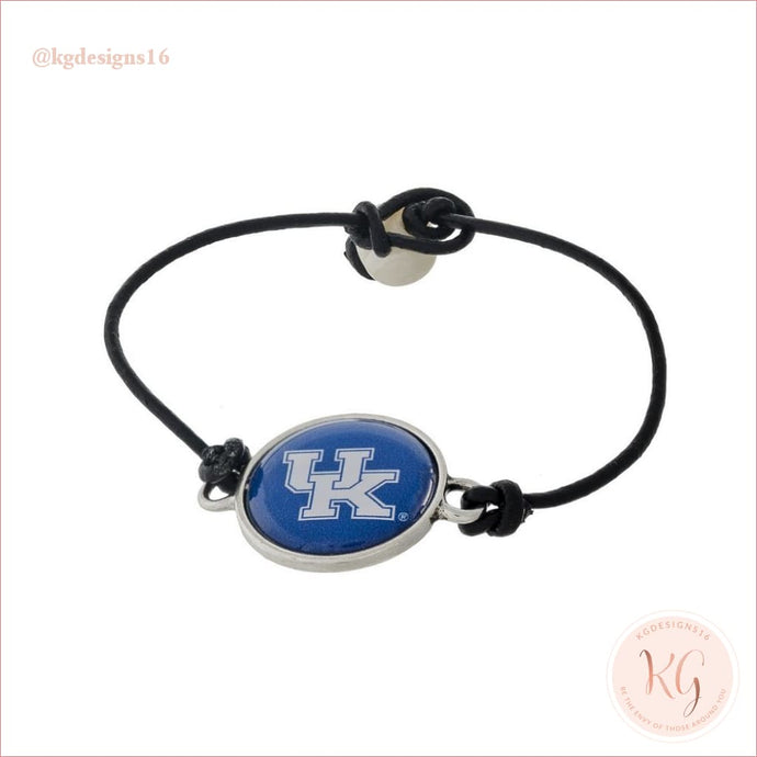 University Of Kentucky Leather Cord Bracelet