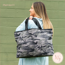 Load image into Gallery viewer, Viv & Lou Camo Black Ally Tote