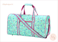 Load image into Gallery viewer, Viv & Lou Lottie Dot Monogram Duffel Overnight Travel Bag