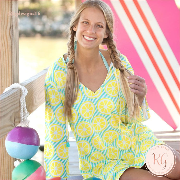 Viv & Lou Main Squeeze Lemon Beach Coverup Tunic