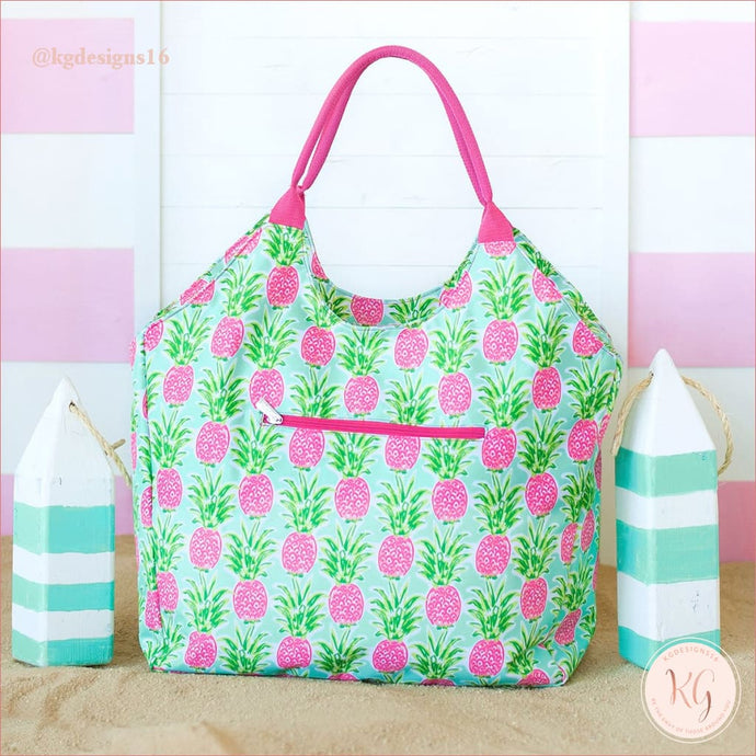 Viv & Lou Sweet Paradise Pineapple Tote Beach Bag