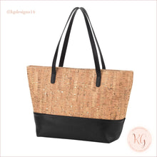 Load image into Gallery viewer, Viv & Lou Vegan Leather And Cork Charlotte Purse Black
