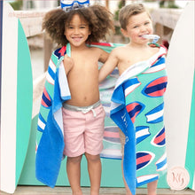 Load image into Gallery viewer, Wave Rider Surfboard Beach Towel