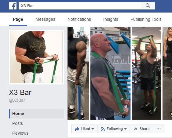 X3 Bar is on Facebook