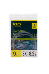 Rio Powerflex 9' Leader 3pk,Leader,FARBANK ENTERPRISES-Confluence Fly Shop