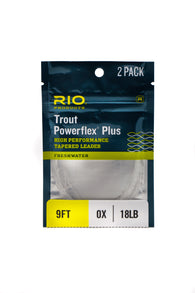 Rio Powerflex 9' Leader 2 Pack,Leader,FARBANK ENTERPRISES-Confluence Fly Shop