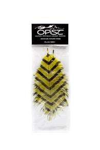 OPST Black Barred Ostrich,Feathers,HARELINE DUBBIN INC.-Confluence Fly Shop