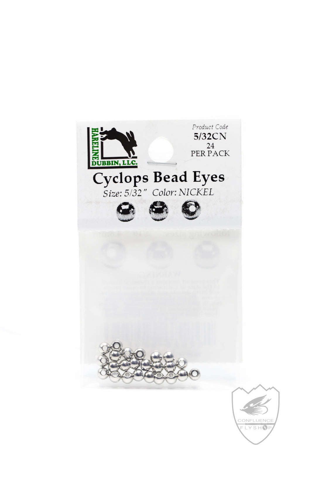 Hareline Cyclops Bead Eyes,Beads,HARELINE DUBBIN INC.-Confluence Fly Shop