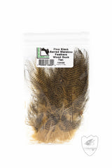 Fine Black Barred Marabou,Feathers,HARELINE DUBBIN INC.-Confluence Fly Shop