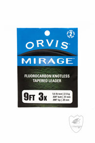 Orvis Mirage 9' Fluorocarbon Tapered Leader 2pk,Leader,ORVIS-Confluence Fly Shop