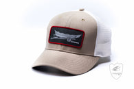 Simms High Crown Patch Trucker,HATS,SIMMS-Confluence Fly Shop