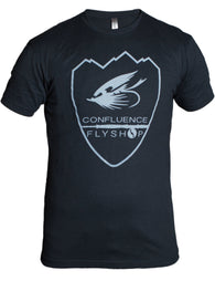 Confluence Logo T-Shirt,Shirt,H&H OUTFITTERS-Confluence Fly Shop