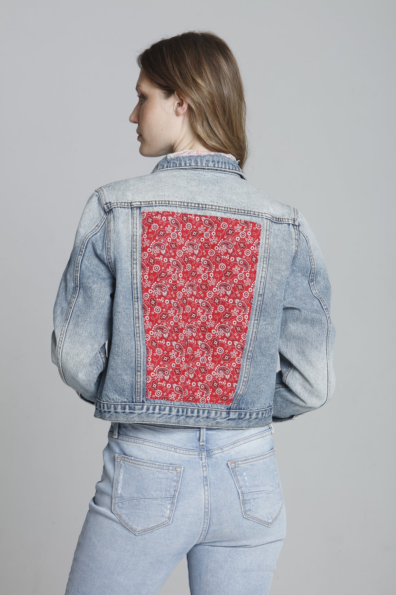 Trucker Jacket - Red Bandana