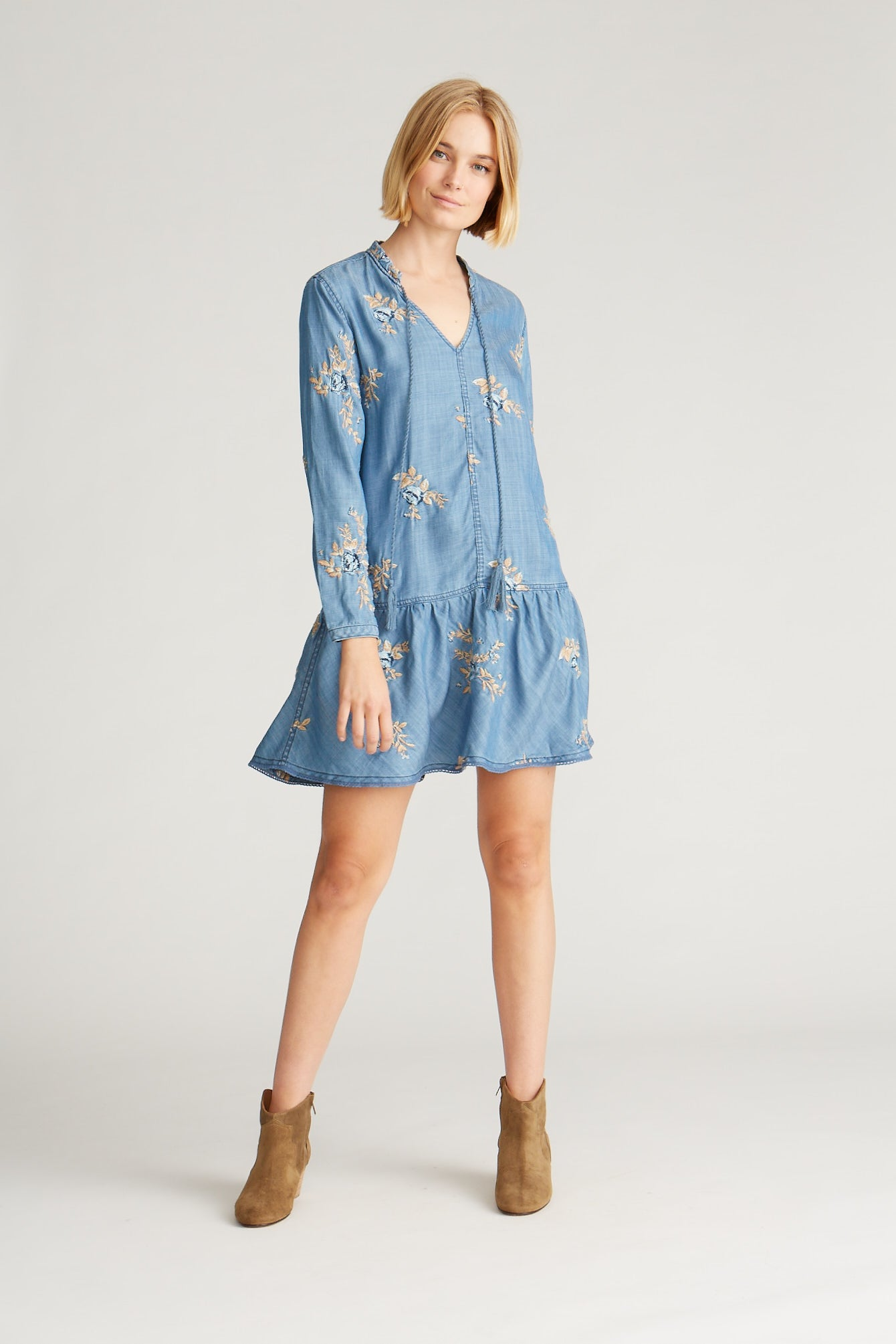 Shaye Dress - Blue Ditzy Garden