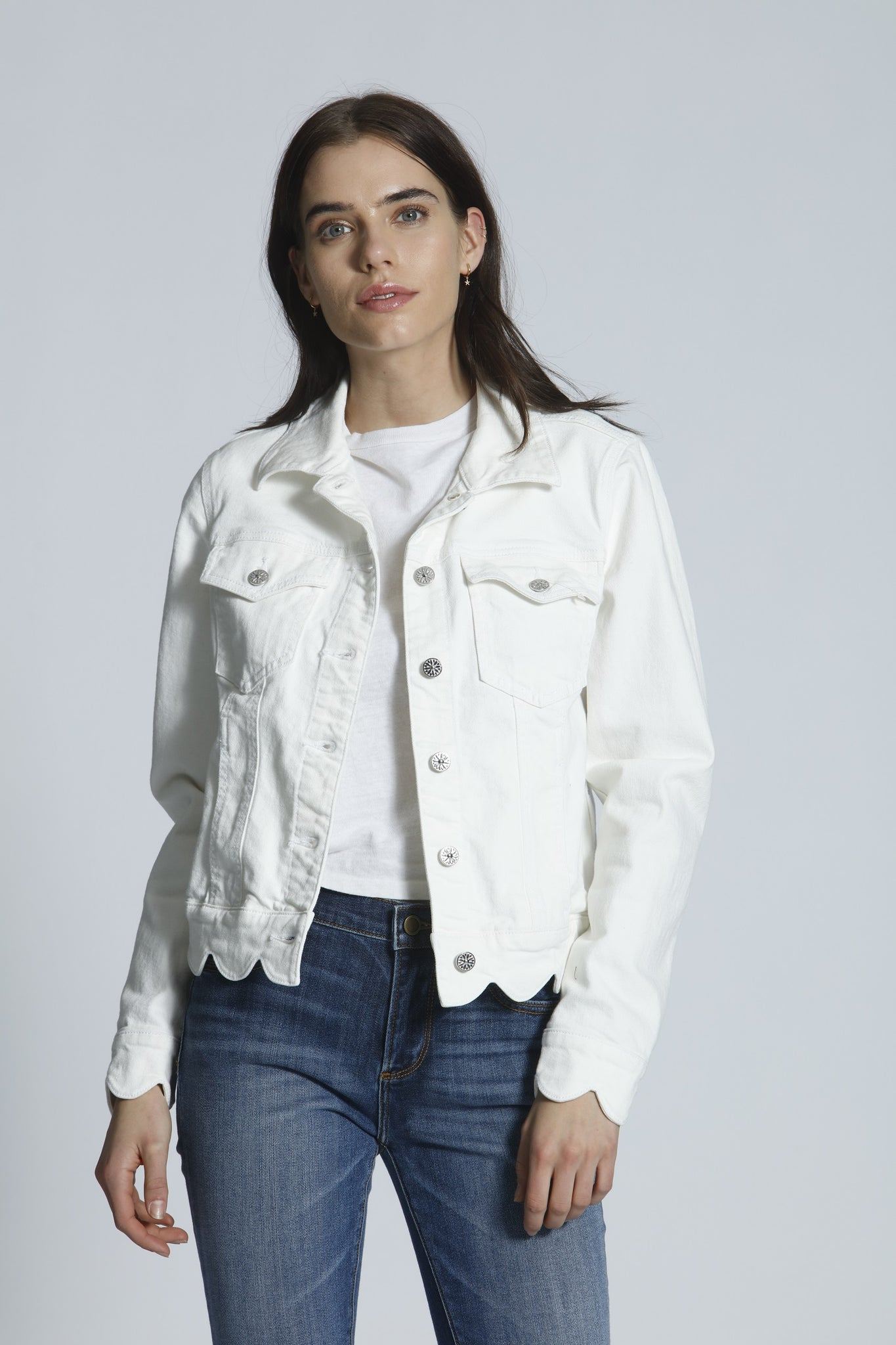 Scallop Jacket - Snow White