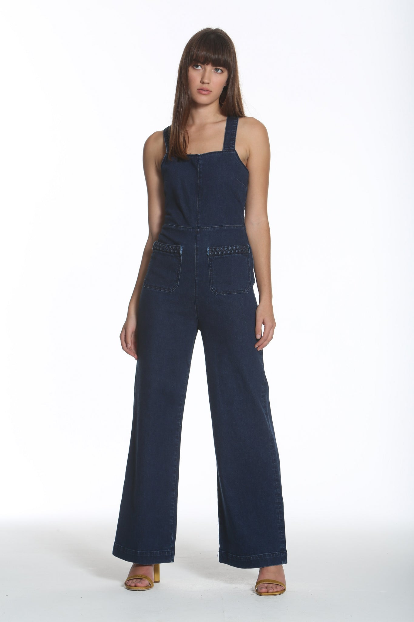 <b>Phoebe Jumpsuit - Blue Braid </b>