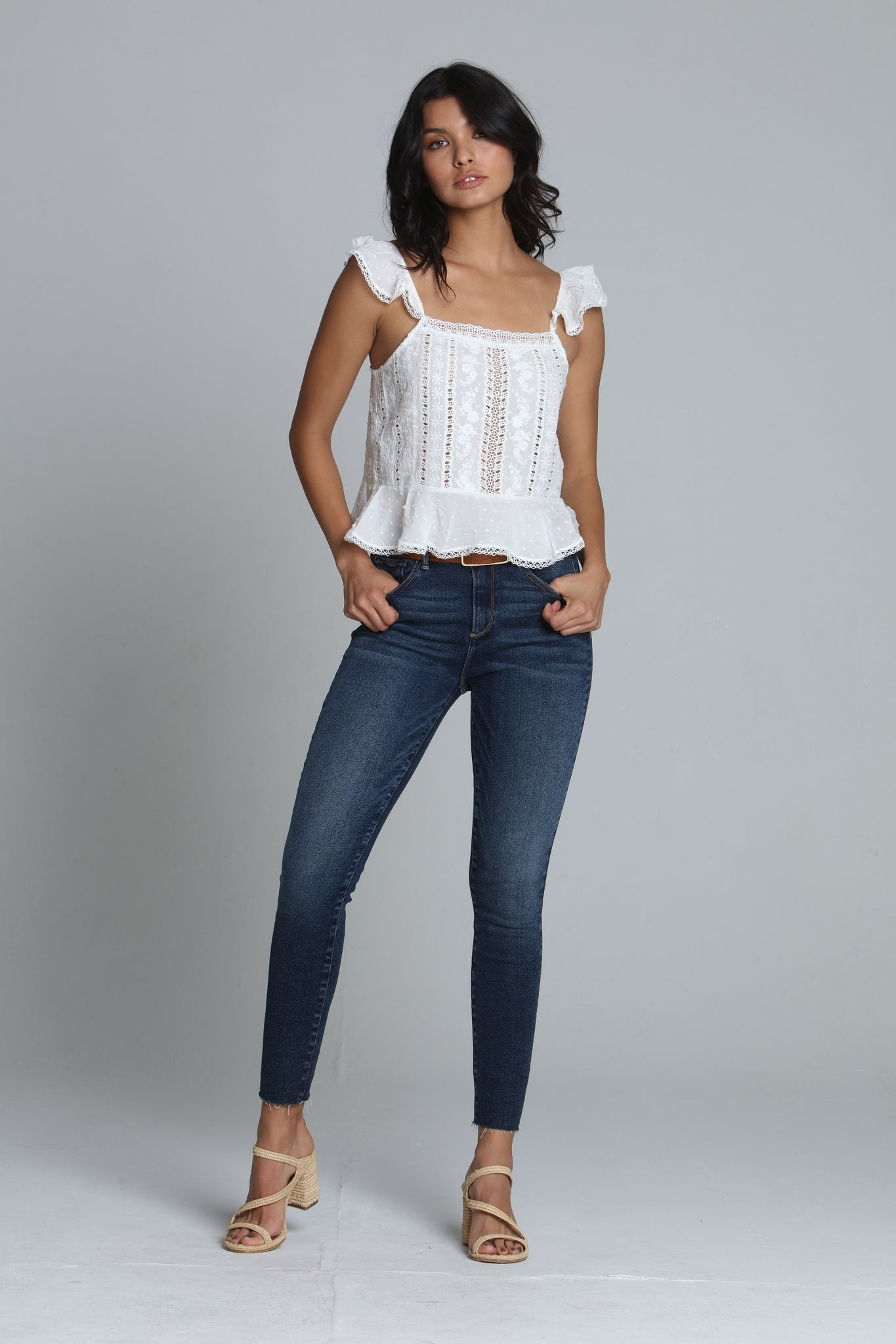 Jackie High Rise Skinny - Blue Jay