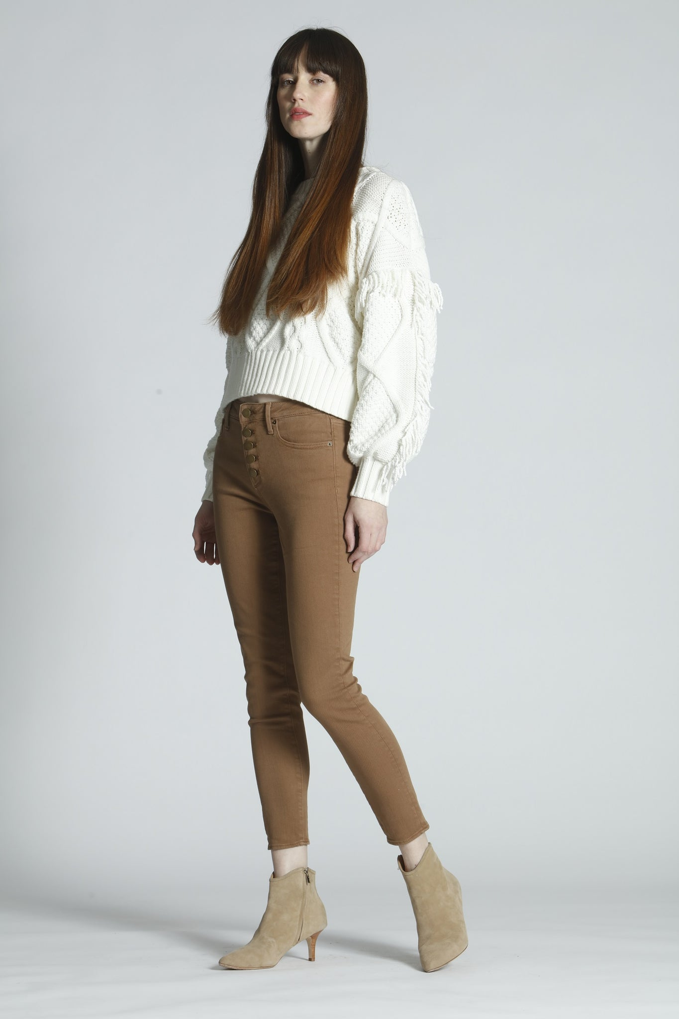Jackie High Rise Skinny - Camel