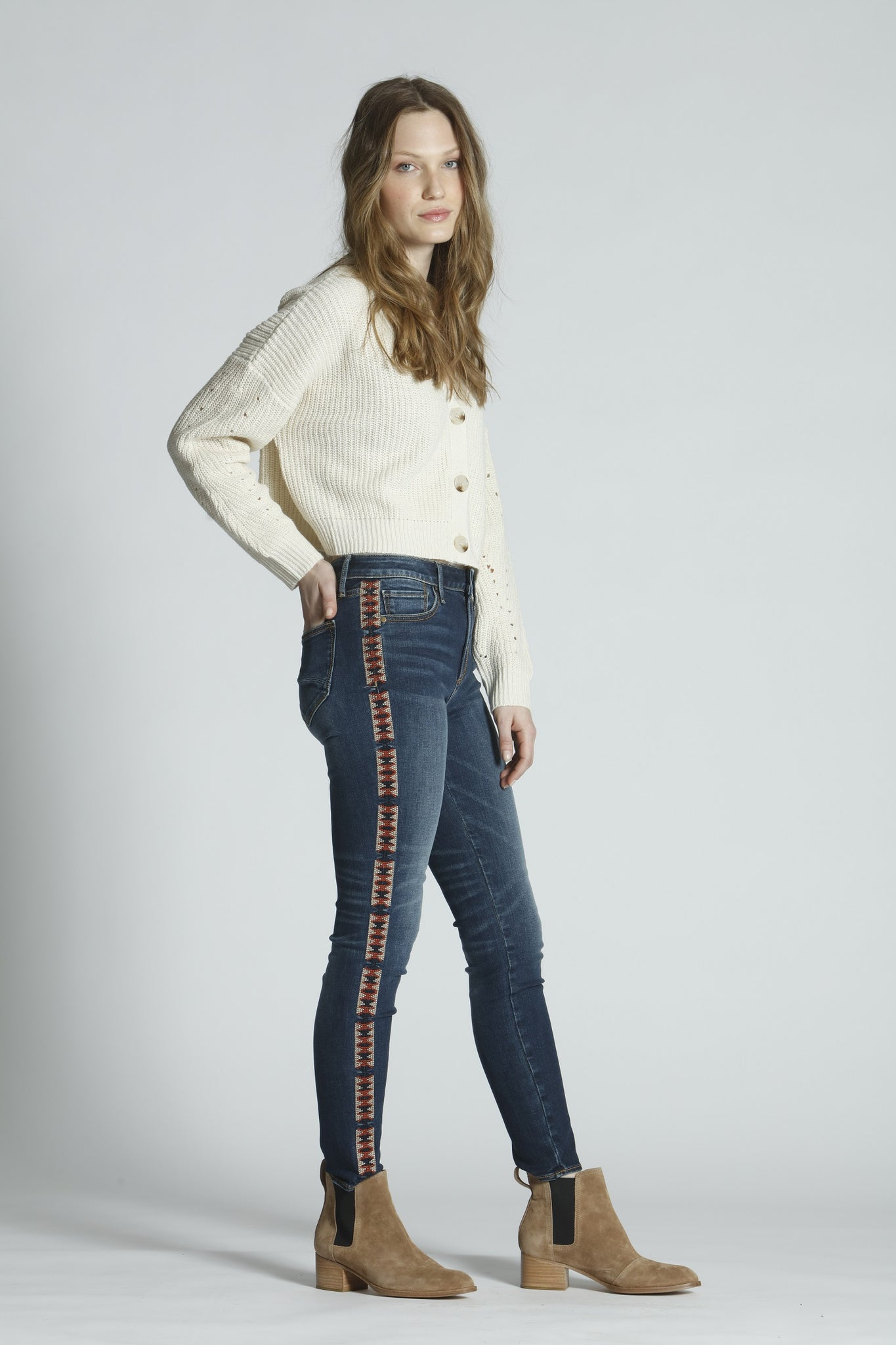 Jackie High Rise Skinny - Lattice