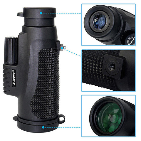 10x42 Monocular Waterproof Telescope +Adapter