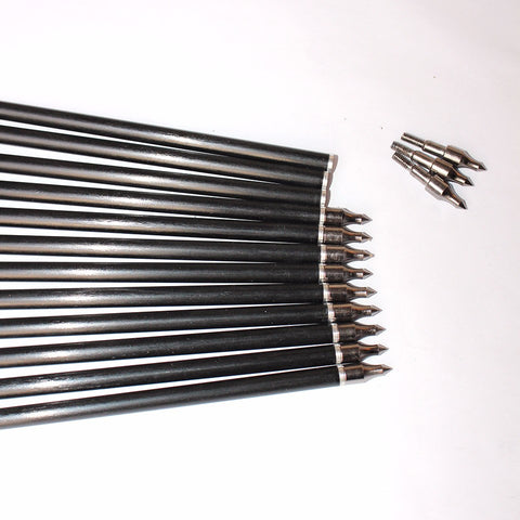 12Pcs 80cm Spine 500 Fiberglass Crossbow Arrow