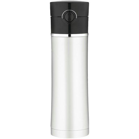 Thermos Sipp Vacuum Insulated Drink Bottle - 16 oz. - Stainless Steel/Black [NS402BK4]