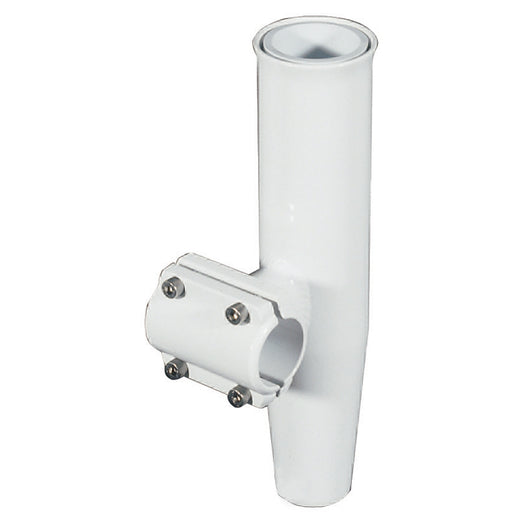 Lee's Clamp-On Rod Holder - White Aluminum - Horizontal Mount - Fits 1.660