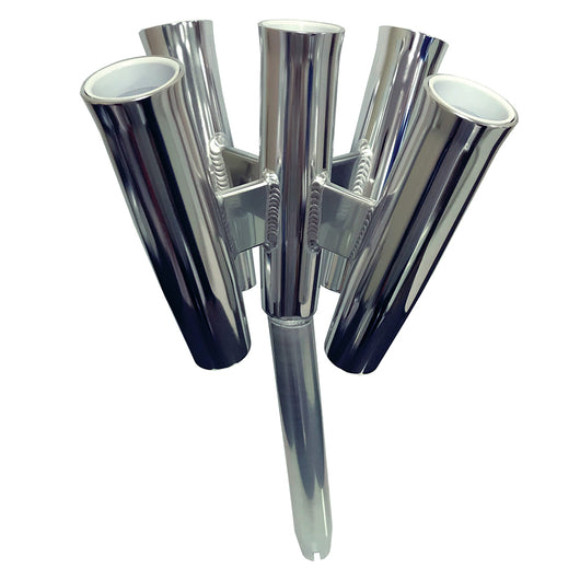 Tigress Five Rod Cluster - Bent Butt - Polished Aluminum [88157-2]