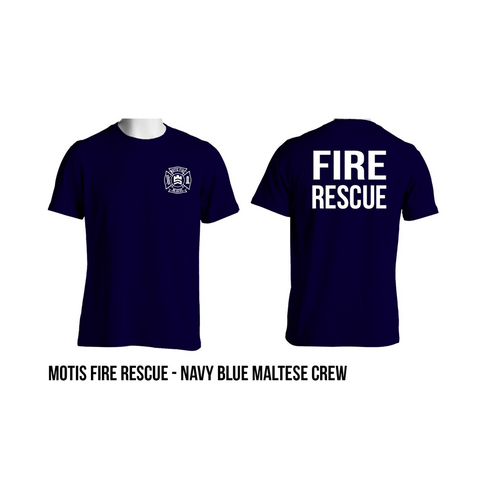 Short Sleeve Navy Crew by Motis