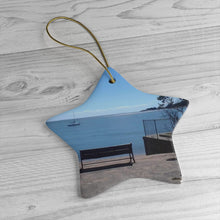 Short Beach Bench Ceramic Ornament