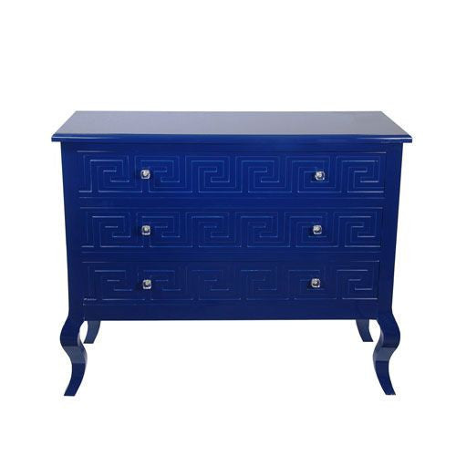 Indigo Blue Three Drawer Chest