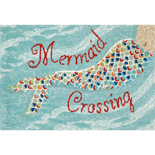 Mermaid Crossing  Front Porch Rug