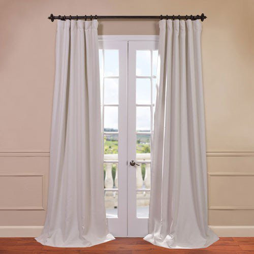 Cottage White Black Out Curtains