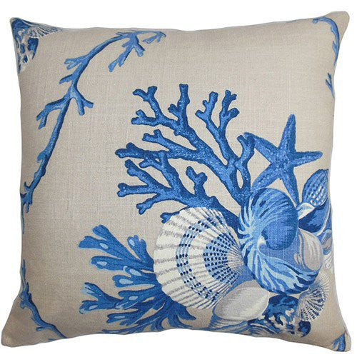 Maj Blue Coastal Throw Pillow