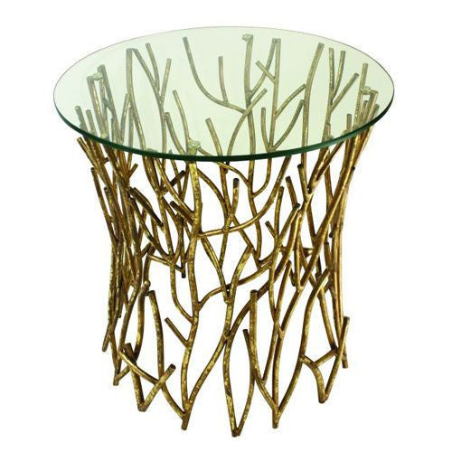 Gold Twig Accent Table