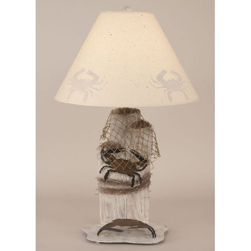Iron Piling and Blue Crab Table Lamp