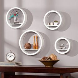 Set of Four Floating Circle Shelves