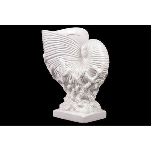 White Ceramic Nautilus Shell