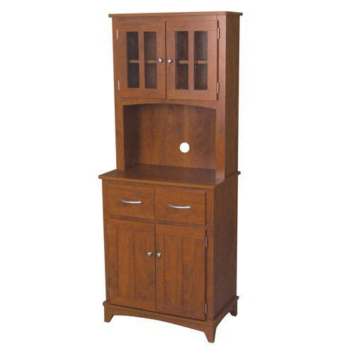 Tall Oak Microwave Cabinet