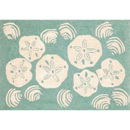 Indoor Outdoor Sand Dollar Rug 5' x 7'6