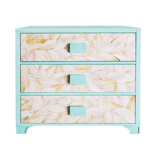 High Gloss Lacquer and Mother of Pearl Chest