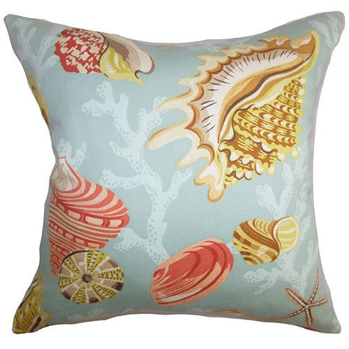 Aqua Coastal Throw Pillow