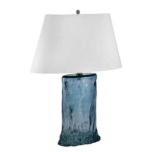 Recycled Glass Table Lamp Turquoise