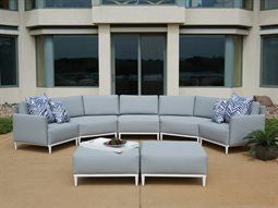 Lloyd Flanders South Beach Sectional With Two Ottomans