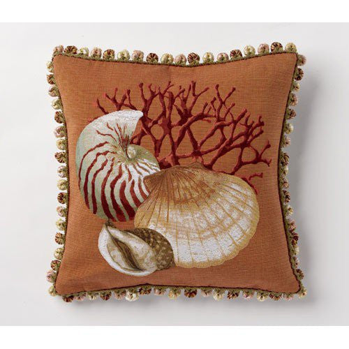Clam and Nautilus Pillow