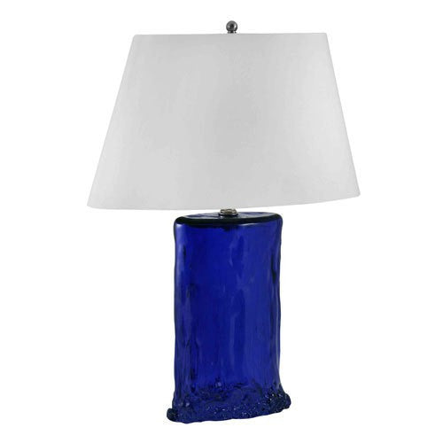 Recycled Glass Table Lamp Cobalt Blue